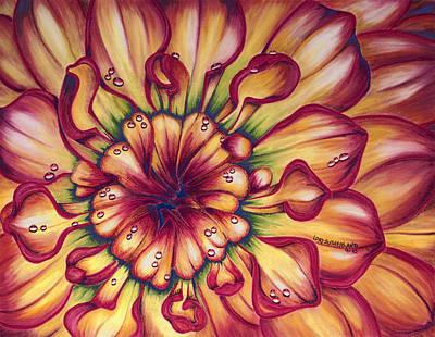 Painting - Dahlia Rainbow by Lori Sutherland