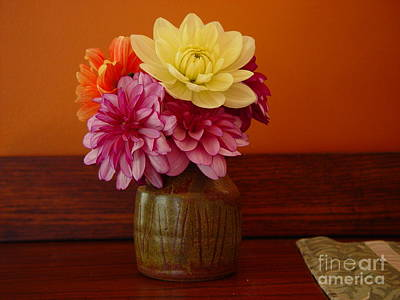 Art Print featuring the photograph Dahlias by Christopher Mace