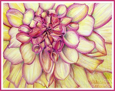 Painting - Dahlia's Heart by Mariarosa Rockefeller