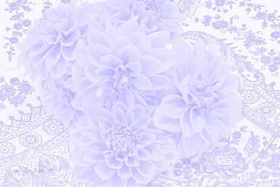 The Blue Dahlia Photograph - Dahlias In Soft Blue by Sandra Foster