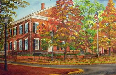 Painting - Dahlonega's Gold Museum In Autumn by Nicole Angell