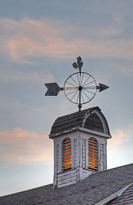 Photograph - Dahman Barn Cupola by Doug Davidson