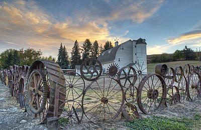 Photograph - Dahmen Barn Sunset by Doug Davidson