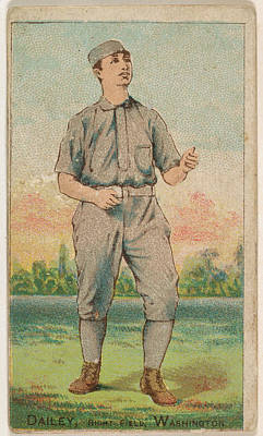 Baseball Cards Drawing - Dailey, Right Field, Washington by D. Buchner & Co., New York