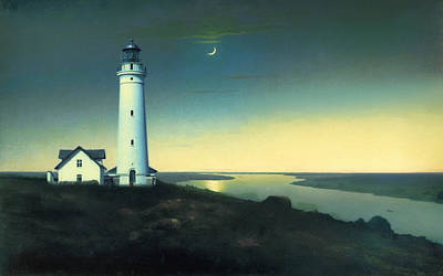 Lighthouse Wall Art - Painting - Daily Illuminations by Douglas MooreZart