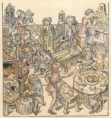 Daily Life, 16th Century Print by Granger