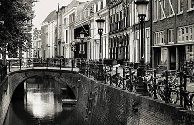 Photograph - Daily Utrecht Scene. Netherlands by Jenny Rainbow