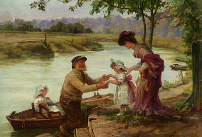 Digital Art - Dainty Fare by Frederick Morgan