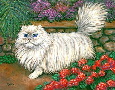 Dainty The Cat Art Print by Linda Mears