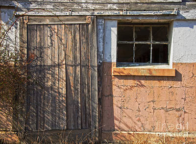 Photograph - Dairy Barn Door by Debra Fedchin
