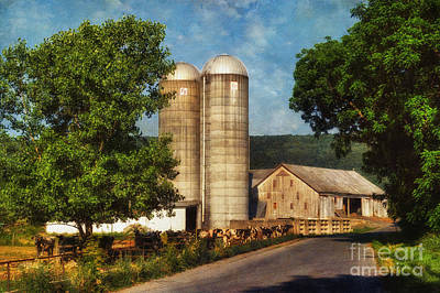 Country Road Digital Art - Dairy Farming by Lois Bryan
