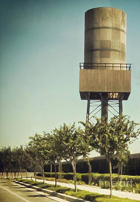 Painting - Dairy Land Water Tower by Gregory Dyer