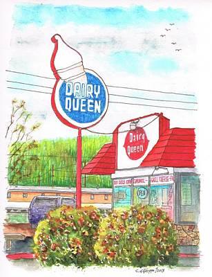Dairy Queen In Route 66, Williams, Arizona Art Print