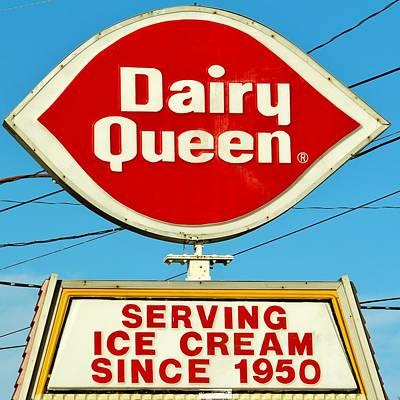 Dairy Queen Sign Print by Cynthia Guinn