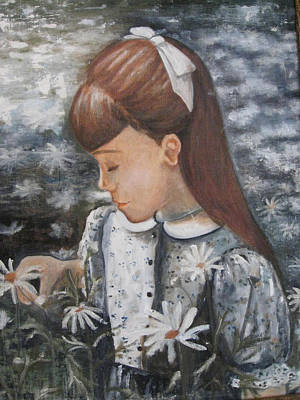 Daisey Girl Art Print