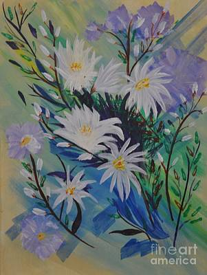 Daisies And Pussy Willows Original by Sally Rice