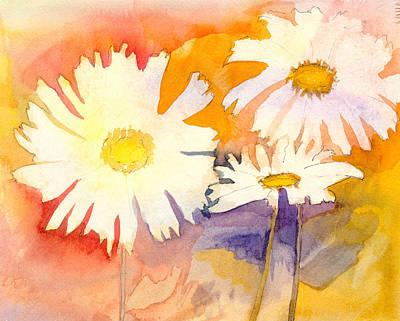Daisies Art Print by Ann Marie Noyman