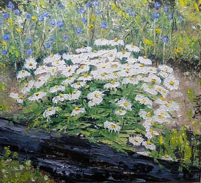 Painting - Daisies by Annamarie Sidella-Felts
