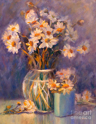 Painting - Daisies Daisies by Carolyn Jarvis