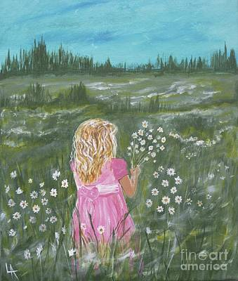 Painting - Daisies For You by Leslie Allen
