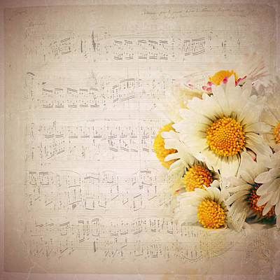 Emotion Mixed Media - Daisies by Heike Hultsch