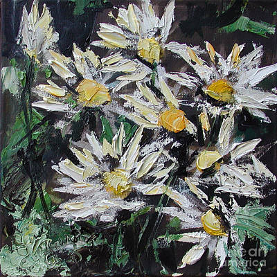 Painting - Daisies Oil Painting by Ginette Callaway