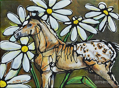 Fauna Painting - Daisies On My Britches by Jonelle T McCoy