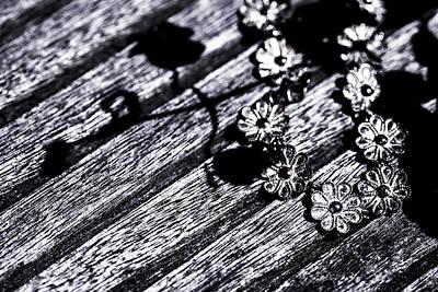 Wood Necklace Photograph - Art 0002 Daisies Sketch by Sebastiaan Lartiste