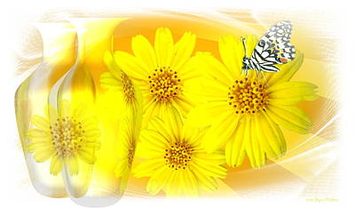 Photograph - Daisies Reflected by Joyce Dickens