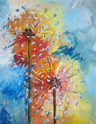 Painting - Daisies  by Richard Fritz