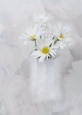 Photograph - Daisies by Robin-Lee Vieira