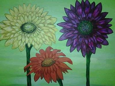 Painting - Daisies by Valorie Cross