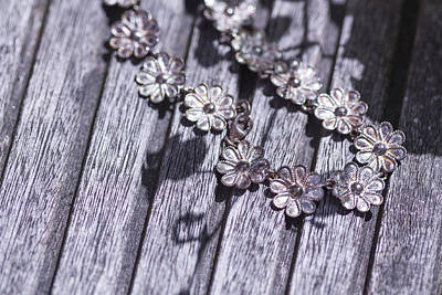 Wood Necklace Photograph - Art 0002 Daisies Withered by Sebastiaan Lartiste