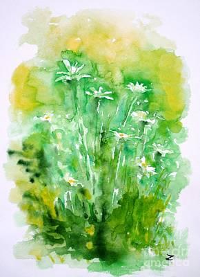 Daisies Art Print by Zaira Dzhaubaeva
