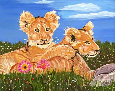Painting - Daisy And Leon by Phyllis Kaltenbach