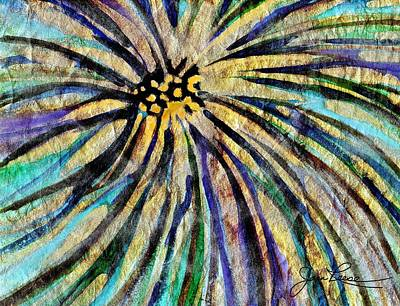 Art Print featuring the painting Daisy Blue by Joan Reese