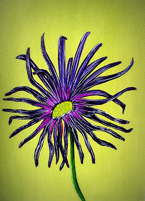 Painting - Daisy Blue by Sandy Wager