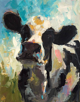 Dairy Cows Painting - Daisy by Cari Humphry