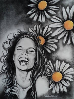 Art Print featuring the drawing Daisy by Carla Carson