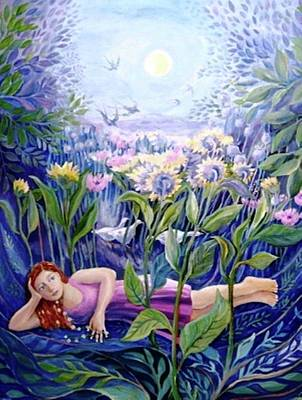 Daisy Chain Art Print by Trudi Doyle