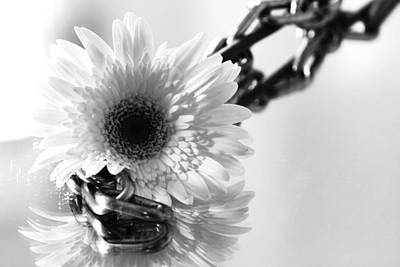 Black And White Bondage Photograph - Daisy Chained by Robin Lynne Schwind