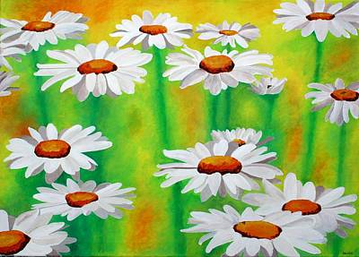 Painting - Daisy Day by Taiche Acrylic Art