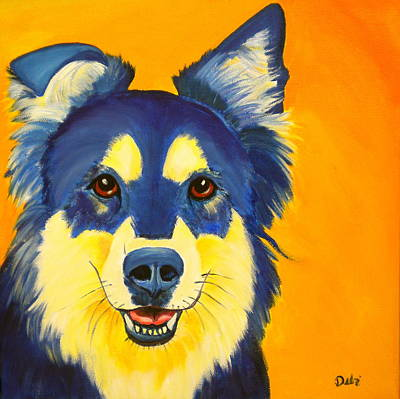 Puppy Lover Painting - Daisy by Debi Starr
