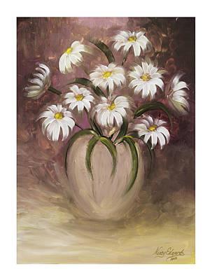Daisy Delight Art Print by Nancy Edwards