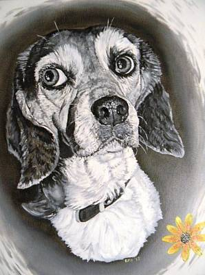 Painting - Daisy Dog by Kevin F Heuman