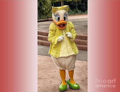 Disney Character Photograph - Daisy Duck by Arnie Goldstein