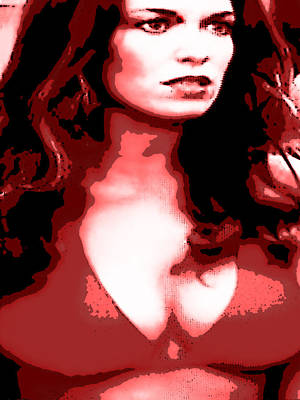 Dukes Of Hazard Show Digital Art - Daisy Duke Dark Variation by J Anthony