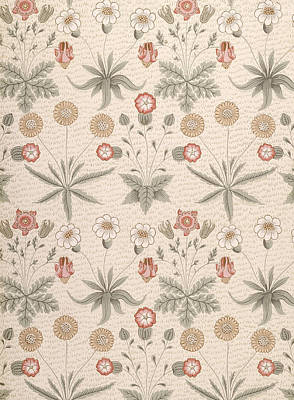 Daisy, First William Morris Design Art Print by William Morris