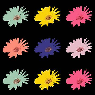 Daisy Flower In Pop Art Art Print