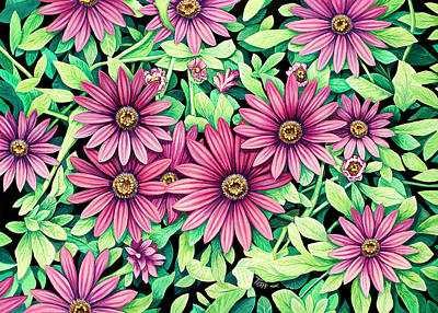 Painting - Daisy Flowers by Tish Wynne